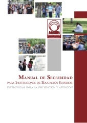 Manual de seguridad para Institucio...