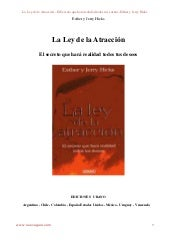 Libro La Ley de Atraccion Esther y ...