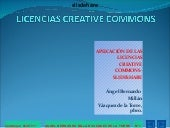 Licencias creative commons slideshare.