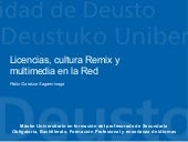Licencias, cultura Remix y multimed...