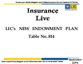 Lic New Endowment Plan No 814