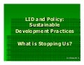 LID LEED and Policy l 2010