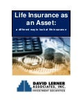 Life Insurance As An Asset