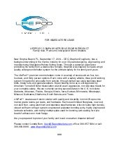LifePod Press Release