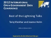 Lightning Talks at IOGDC 2012