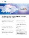 HubSpot Case Study: Driving high-quality leads with LinkedIn Sponsored Updates