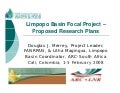 Limpopo Basin Focal Project –Proposed Research Plans