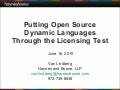 Putting Open Source Dynamic Languages through the Licensing Test: A guide to most popular licenses and their implications