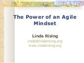 Linda rising  - the power of an agile mindset