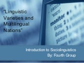 Linguistics varieties and multiling...