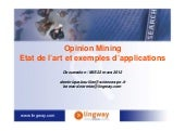 Opinion Mining : Etat de l'art et e...