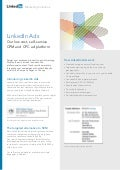 Marketing Solutions LinkedIn ads product sheet