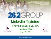 LinkedIn Training and Best Practice...