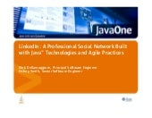 LinkedIn - A Professional Network built with Java Technologies and Agile Practices