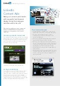 Marketing Solutions LinkedIn content ads product sheet