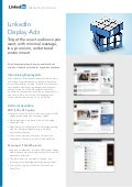 Marketing Solutions, LinkedIn, Display Ads, product sheet