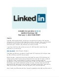 LinkedIn Earnings Call Report Transcript Q4 2012