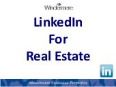 Linked In For Real Estate (Social M...