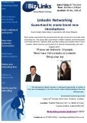 Linkedin Networking 24th October