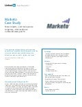 LinkedIn Sales Navigator Case Study for Marketo