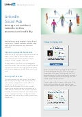 Marketing Solutions LinkedIn Social Ads  product sheet