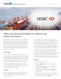 HSBC Case Study: Using LinkedIn Sponsored Updates to Establish Key Global Connections