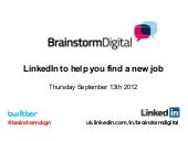LinkedIn to help you find a new job