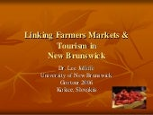 Linking farmers' markets and touris...