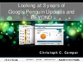 Looking at 3 Years of Google Penguin Updates and Beyond at #BrightonSEO