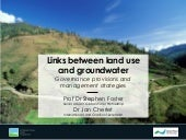 Links between land use and groundwater - governance provisions and management strategies