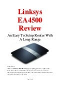Linksys EA4500 Review – An Easy To Setup Router With A Long Range