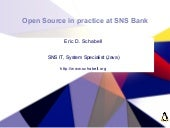 Open Source in Practice at SNS Bank