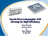 Liquid chromatography still strivin...