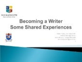 Becoming a writer : some shared exp...