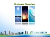 Business Overview of  CleanTech San...