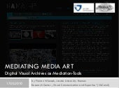 Mediating Media Art. Digital Visual...