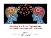 From Training to Supporting Social ...