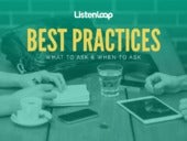 Best Practices: What & When to Ask Questions to Improve Product & Marketing Innovations in SaaS and e-Commerce