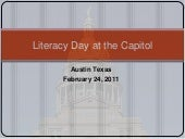 Literacy Day at the Capitol 2011