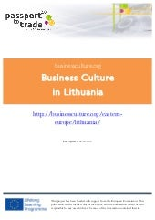 Lithuanian business culture guide -...