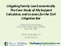 Litigating family law economically