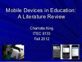 King-Mobile Technology in Education...
