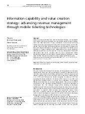 Information Capability and Value Cr...