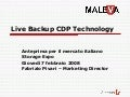 Live Backup CDP Technology