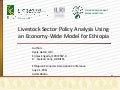 Livestock Sector Policy Analysis