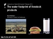 The water footprint of livestock pr...
