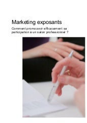Livre blanc : Marketing exposants, ...