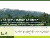 The new agrarian change?