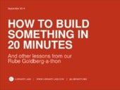 How to Build Something in 20 Minutes