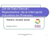Llei de Salut Sexual i Reproductiva...